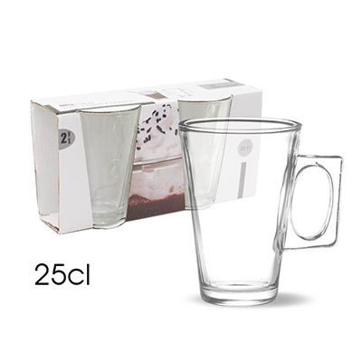 SET 2  TASSES A CAFE 25CL