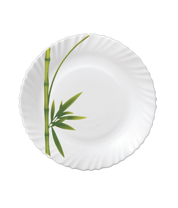ASSIETTE CREUSE FLUTED GREEN OPALA 22CM