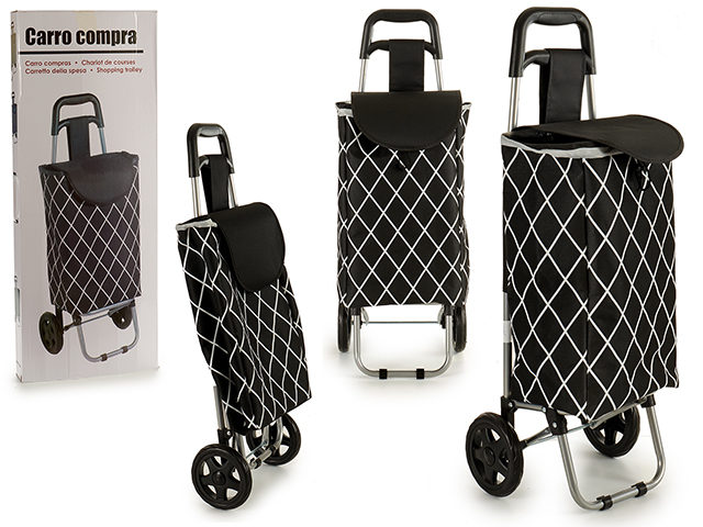 CHARIOT MARCHE RAYURE NOIR